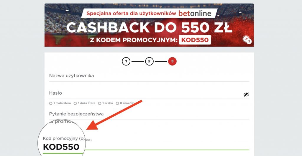 """""""KOD550"""" - aktualny kod promocyjny dla nowych w Betclic"""