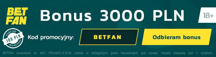 Darmowy bonus betfan online
